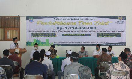 Salurkan Zakat Rp1,7 Miliar