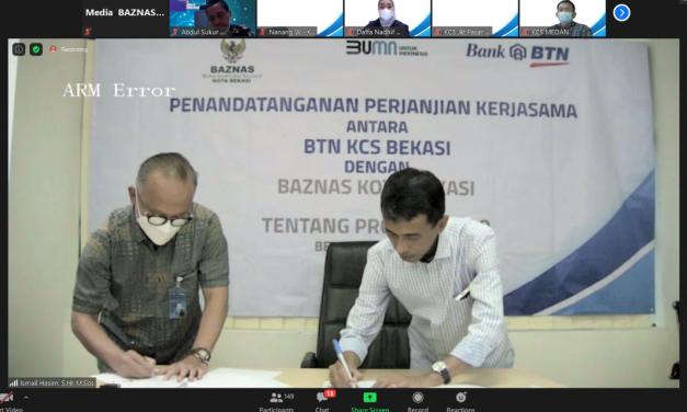 Sinergi BAZNAS Kota Bekasi & BTN Syariah Jadi Inspirasi Nasional
